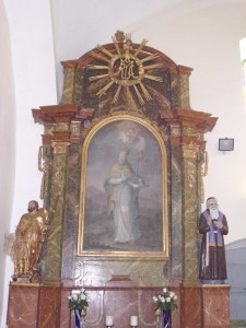 kapela Sv. Margarete u Kapelščaku - oltar Sv. Nikole biskupa